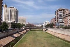 Cama de río seca urbana Imagen de archivo libre de regalías