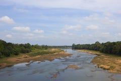 Cama de rio cênico cingalesa Fotografia de Stock