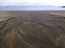 Cama de rio de Sandy Fotografia de Stock