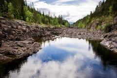 Cama de rio seca Imagem de Stock