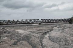 Cama de rio seca foto de stock royalty free