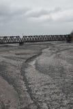 Cama de rio seca imagens de stock