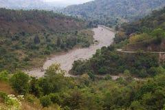Cama de rio seca em Timor Oriental fotografia de stock