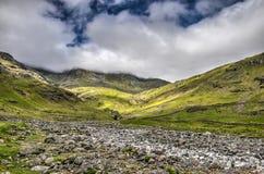 Cama de rio seca no distrito inglês do lago imagem de stock royalty free