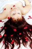 Cama de rosas Fotos de Stock Royalty Free