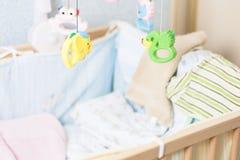 Cama de un recién nacido Imágenes de archivo libres de regalías