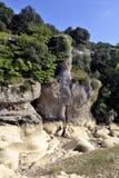 A cama do rio Gardon completamente seco Foto de Stock Royalty Free