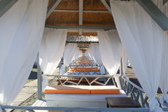 Cama do vadio, na praia Foto de Stock Royalty Free