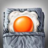Cama - e - pequeno almoço ilustração do vetor