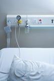 Cama el hospitalizado en hospital Foto de archivo libre de regalías