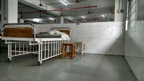 Cama en un hospital Fotos de archivo libres de regalías