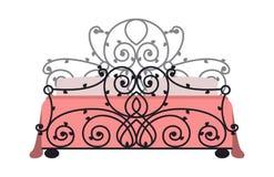 Cama exclusiva de la moda del dormitorio del diseño de los muebles el dormir y decoración casera cómoda del apartamento de la rel Fotografía de archivo
