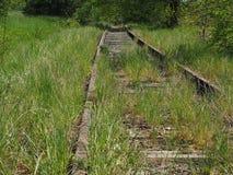 Cama ferroviaria no usada Fotos de archivo libres de regalías