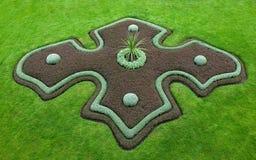 Cama ornamental en los jardines del castillo de Praga Fotografía de archivo libre de regalías