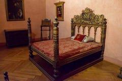 Cama romana en Sant 'Angelo Castle Italy fotografía de archivo