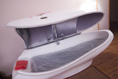 Cama seca da sauna fotografia de stock royalty free