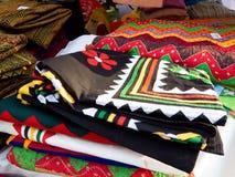 Cama tejida a mano hecha a mano y impresa a mano la hoja-India fotografía de archivo