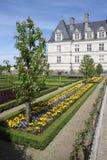 Cama y castillo villandry de flor de Loire Valley Foto de archivo