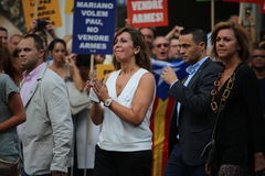 Camacho and Cospedal at manifestation against terrorism Royalty Free Stock Photography