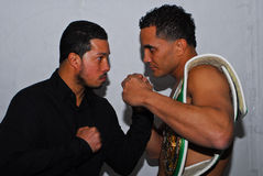 Camacho, JR v. Ayala le 30 mars 2012, Mgm Grand, CT Photos stock