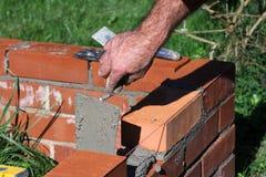 Camada de tijolo, quadro para o adubo fotos de stock