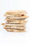Camada do tipo do corte da madeira no fundo branco Imagem de Stock Royalty Free
