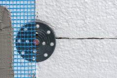 Camadas da isolação da fachada Imagens de Stock