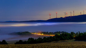 Camadas da névoa Fotografia de Stock