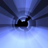 Camadas de arcos claros com alargamentos do halo ilustração do vetor