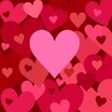Camadas de corações Fotos de Stock Royalty Free