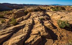 Camadas de formações de rocha no Estados Unidos do sudoeste Fotografia de Stock Royalty Free