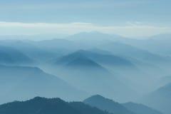 Camadas de montanha Fotos de Stock