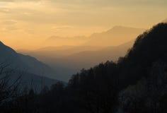 Camadas de montanhas Fotografia de Stock Royalty Free