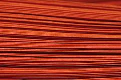 Camadas de sacos alaranjados fotografia de stock