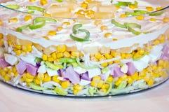 Camadas de salada da camada Imagens de Stock