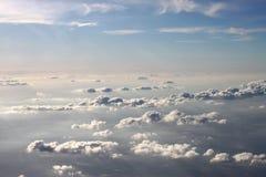 Camadas diferentes de nuvens imagem de stock