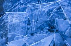 Folhas de gelo, fundo Fotos de Stock Royalty Free