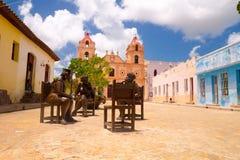 CAMAGÜEY, CUBA - 4 DE SEPTIEMBRE DE 2015: Estatuas Fotografía de archivo