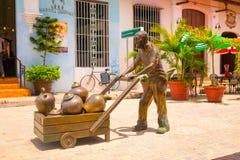 CAMAGÜEY, CUBA - 4 DE SEPTIEMBRE DE 2015: Estatuas Imagenes de archivo