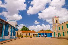 Camagüey, Cuba - la ciudad vieja enumeró en el mundo de la UNESCO fotografía de archivo