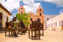 CAMAGUEY, CUBA - SEPTEMBER 4, 2015: Statues Royalty Free Stock Photography