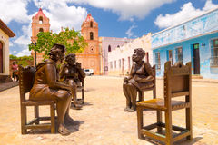 CAMAGUEY, CUBA - SEPTEMBER 4, 2015: Statues Royalty Free Stock Photos