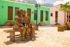 CAMAGUEY, CUBA - SEPTEMBER 4, 2015: Statues Stock Image