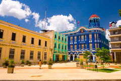 CAMAGUEY, CUBA - SEPTEMBER 4, 2015: Street view of stock photo