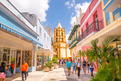 CAMAGUEY, CUBA - SEPTEMBER 4, 2015: Street view of Royalty Free Stock Photos