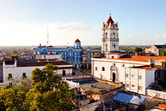 Camaguey UNESCO World Heritage Centre from above. View of the Plaza de los Trabajadores. aerial view Stock Photography
