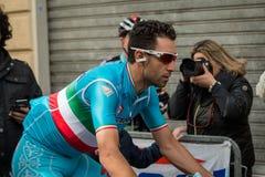 Camaiore Italien - mars 12, 2015: Vincenzo Nibali Royaltyfria Foton