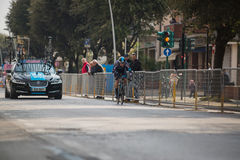 Camaiore, Italy - March 12, 2015: Professional cyclist Stock Images