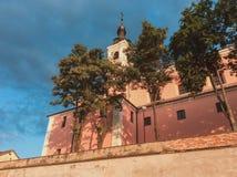 Camaldolese kloster i Wigry Arkivfoton
