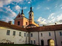 Camaldolese kloster i Wigry Royaltyfri Bild